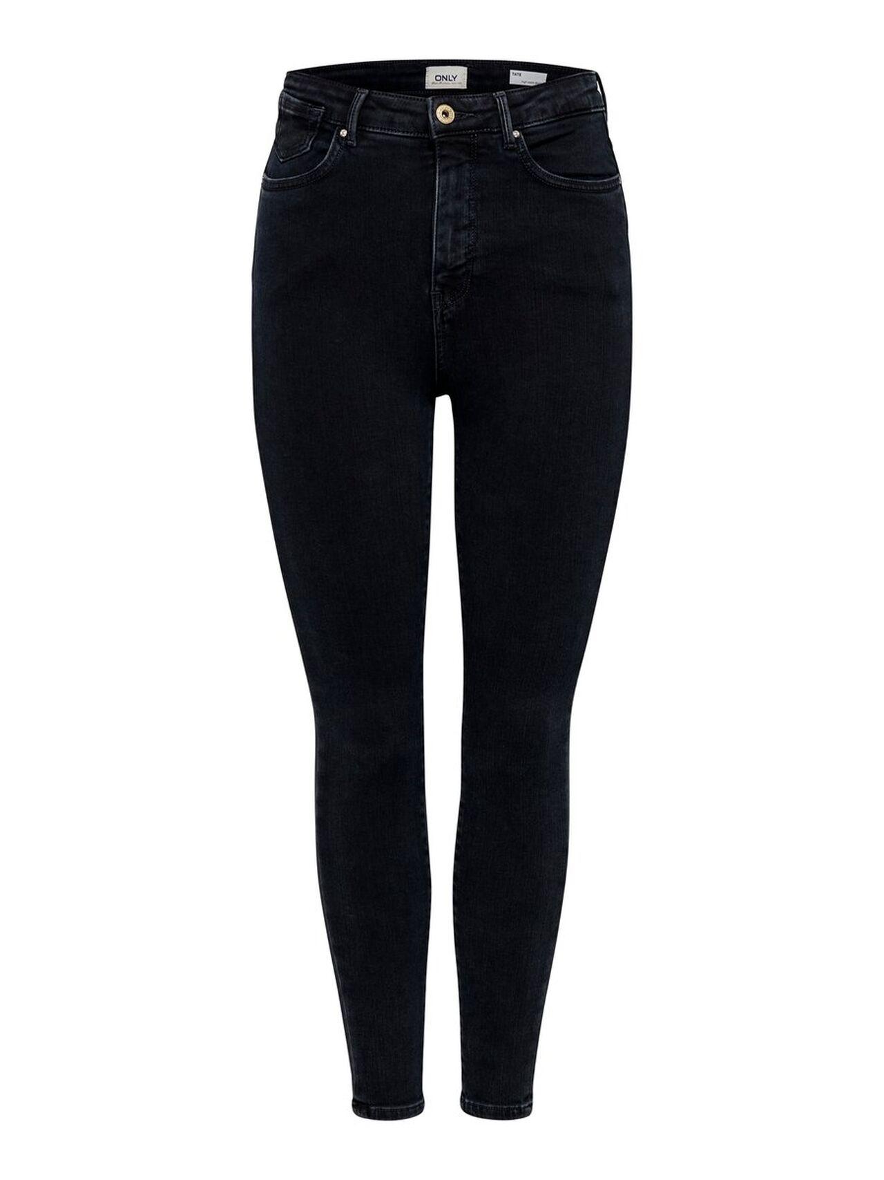 ONLY Onltate Hw Ankle Skinny Fit Jeans Kvinna Blå