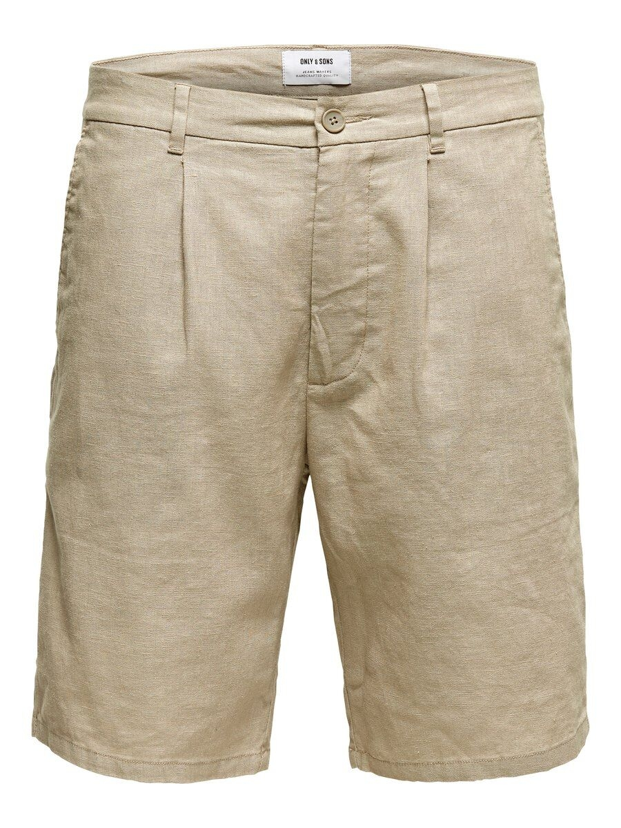 ONLY & SONS Linnesydda Shorts Man Beige