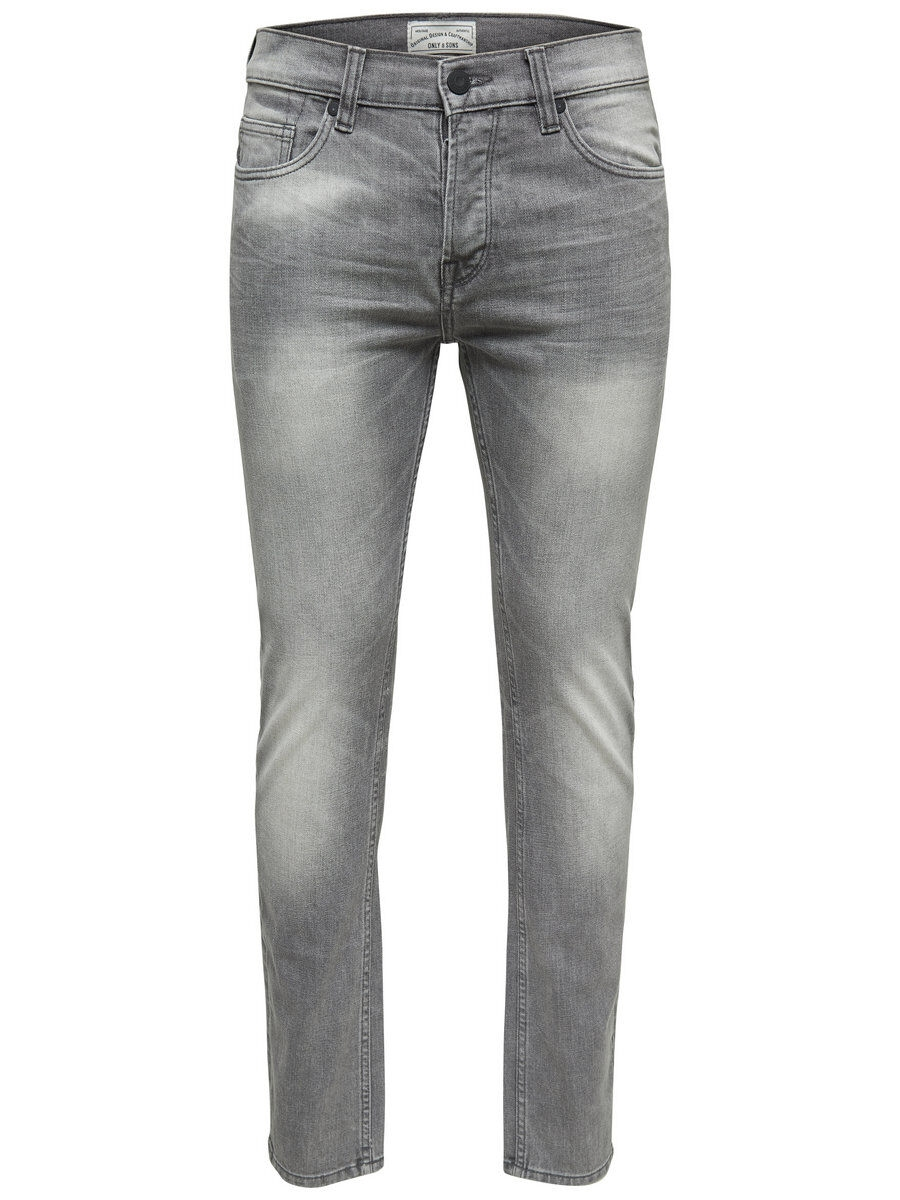 ONLY & SONS Onsloom Grå Slim Fit-jeans Man Grå