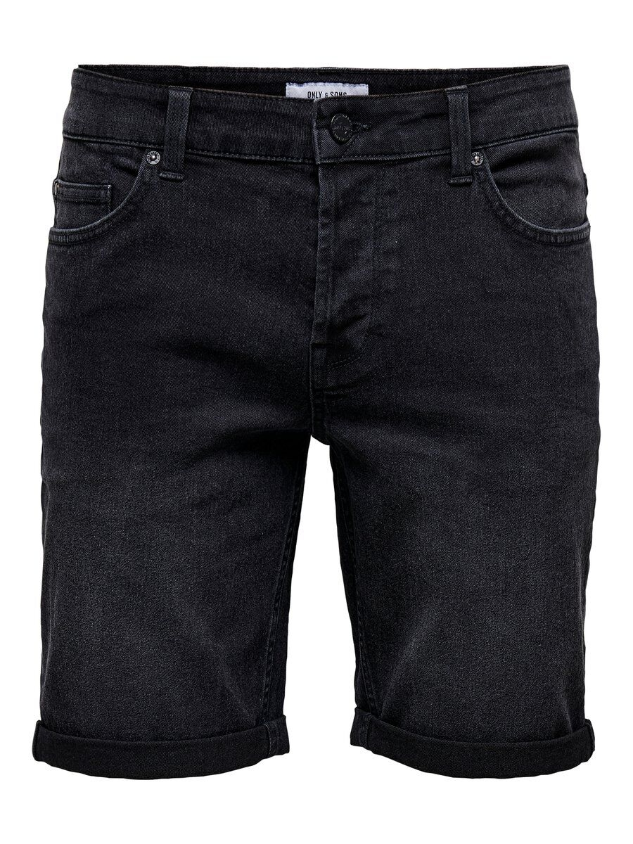 ONLY & SONS Onsply Denimsydda Shorts Man Svart