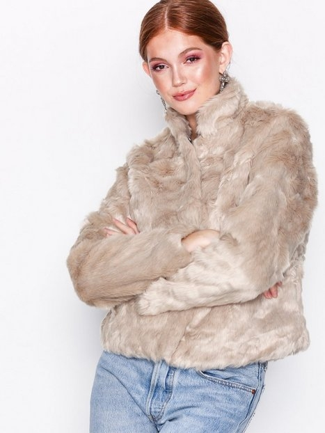 Only onlVIVA Fur Jacket Cc Otw Faux Fur Ljus Grå