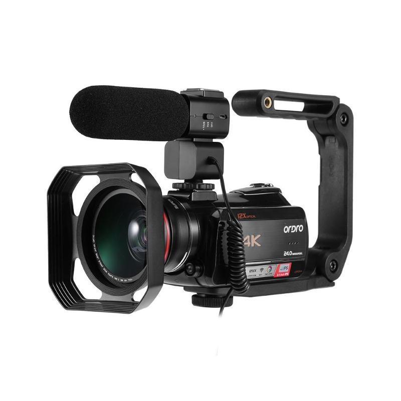 Ordro HDR-AC5 4K UHD-zoom 12X FHD 24MP WiFi IPS Touch Screen Digtal Optisk DV Digital Videokamera Videokamera