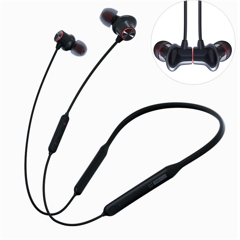 Original Oneplus Bullet Wireless 2 Earphone 2 Balanced Armature Dynamic Hybrid Wrap Quick Charge Halsband hörlurar med m