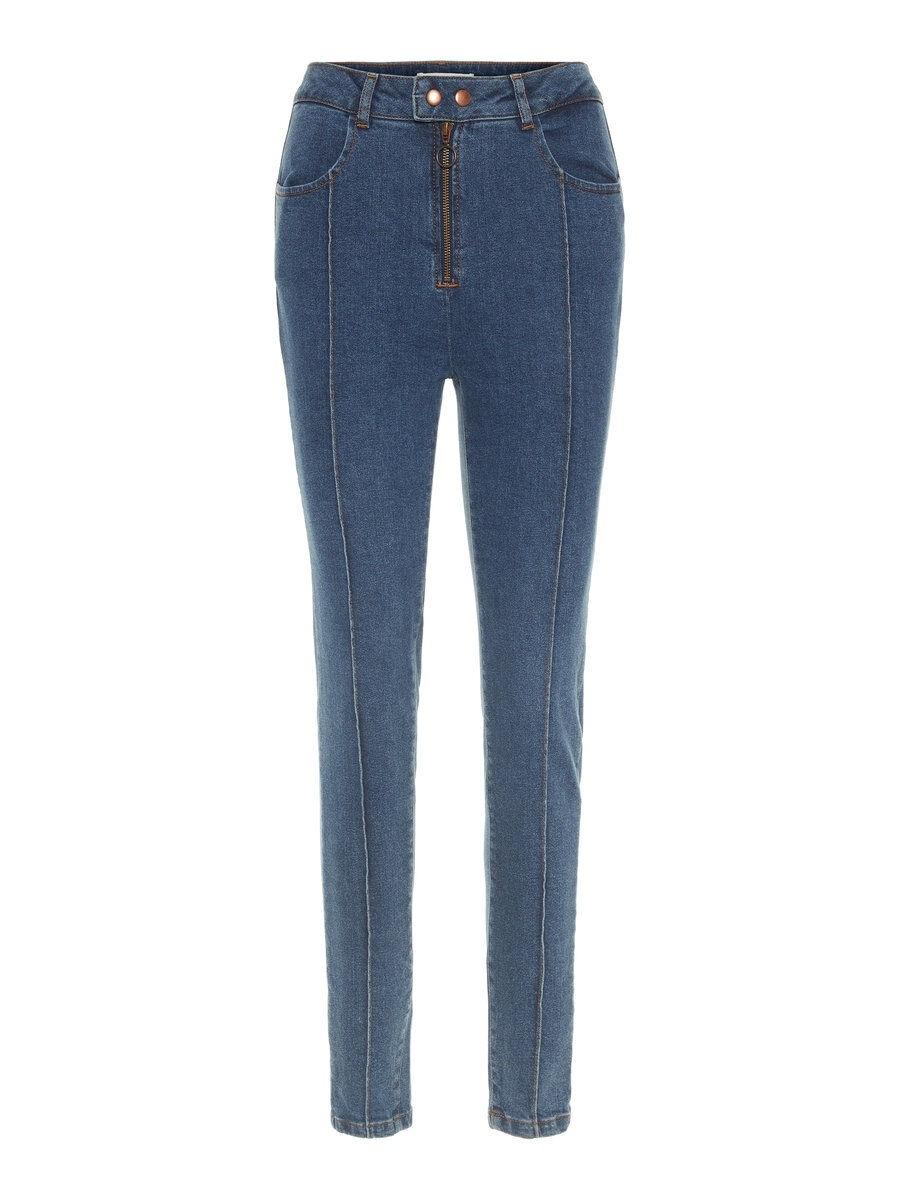 P O S T Y R High Rise Skinny Fit Jeans Kvinna Blå