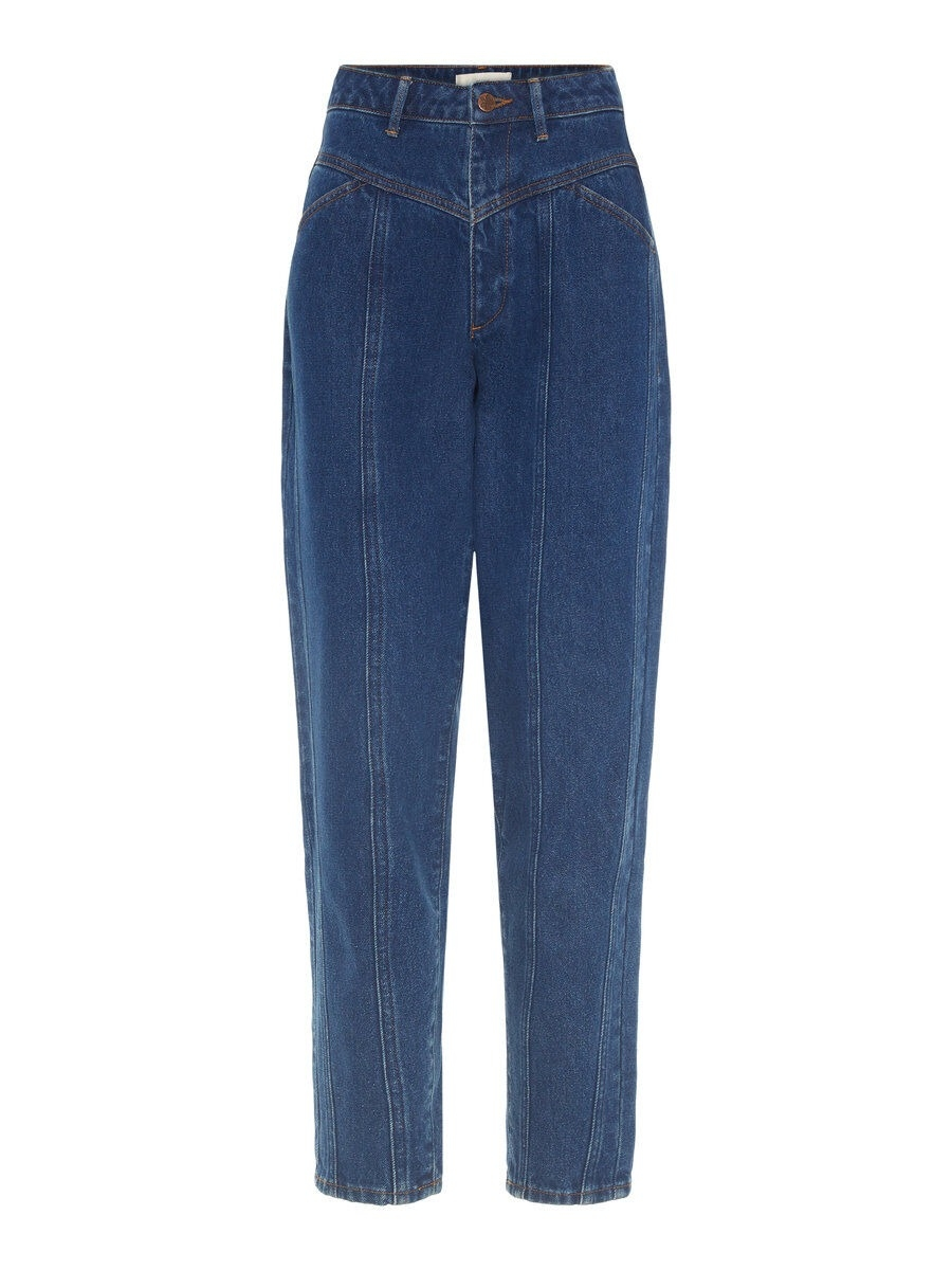 P O S T Y R High-waisted Carrot Fit Jeans Kvinna Blå