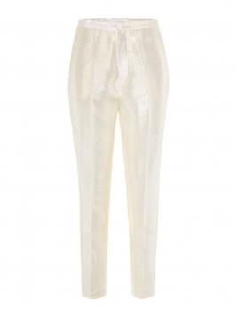 P O S T Y R High-waisted Metallic Trousers Kvinna Guld
