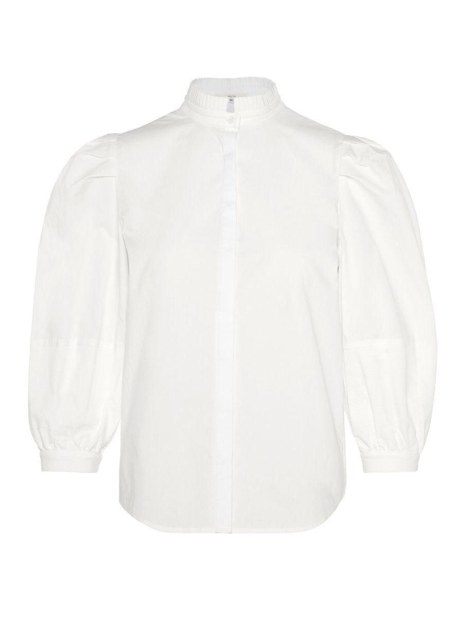 P O S T Y R Imperial Collar Shirt Kvinna White