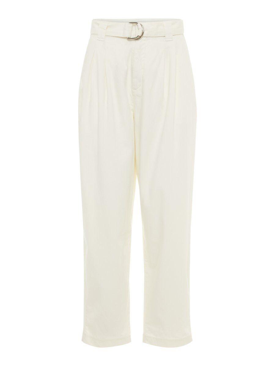 P O S T Y R Loose-fit Cotton Trousers Kvinna Beige