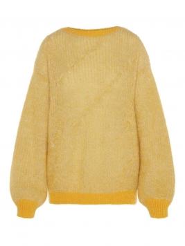 P O S T Y R Rib-knit Boatneck Pullover Kvinna Gul