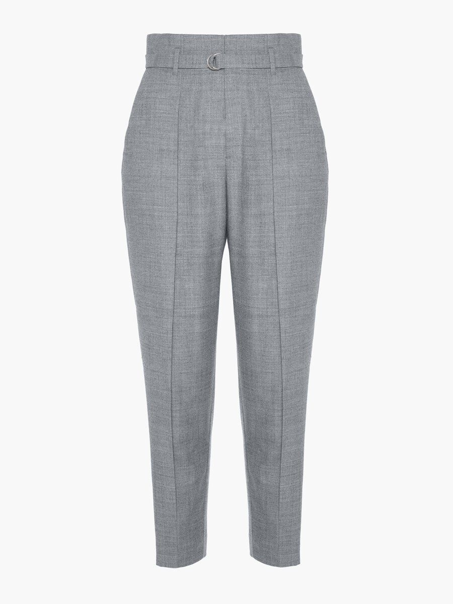 P O S T Y R Tailored High-waist Trousers Kvinna Grå