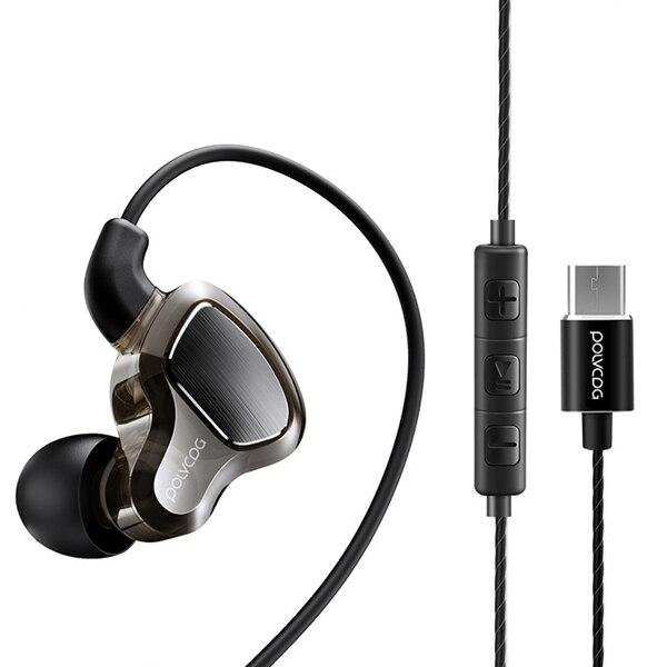 POLVCDG D6T Headset med mikrofon USB Typ-C