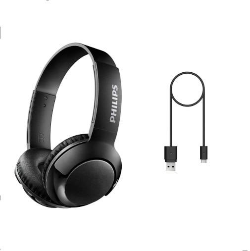 Philips Bass+ On-Ear Bluetooth Headset SHB3075BK