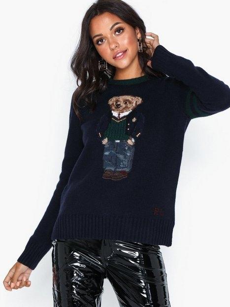 Polo Ralph Lauren Bear-Long Sleeve-Sweater Stickade tröjor