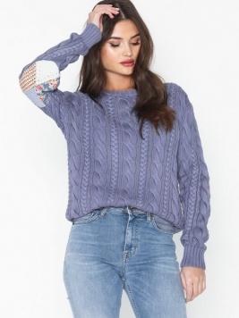 Polo Ralph Lauren Ls Elbw Ptch-Long Sleeve-Sweater Stickade tröjor