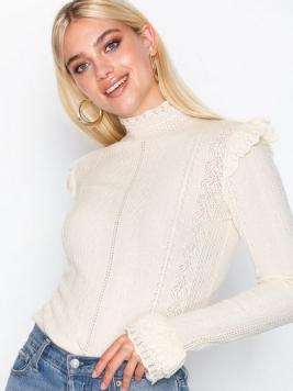 Polo Ralph Lauren Ruffle Long Sleeve Sweater Stickade tröjor