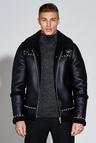 Premium Faux Leather Harrington Jacket