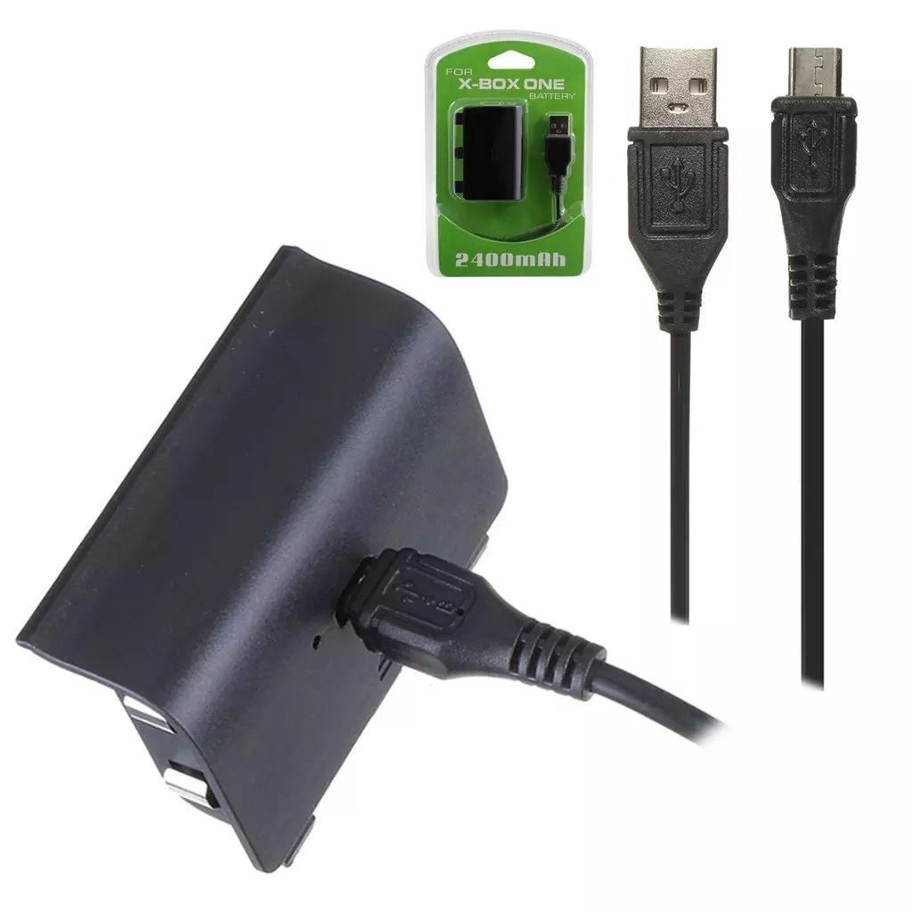 Prylxperten 2400mAh uppladdningsbart Batteri Pack för XBOX ONE