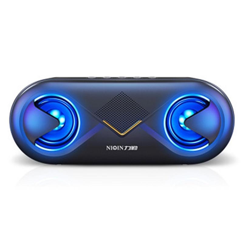 S6 Trådlös Bluetooth 5.0 4D Stereo Surround Sound Högtalare Hifi Driver Flash Lätt handsfree headset