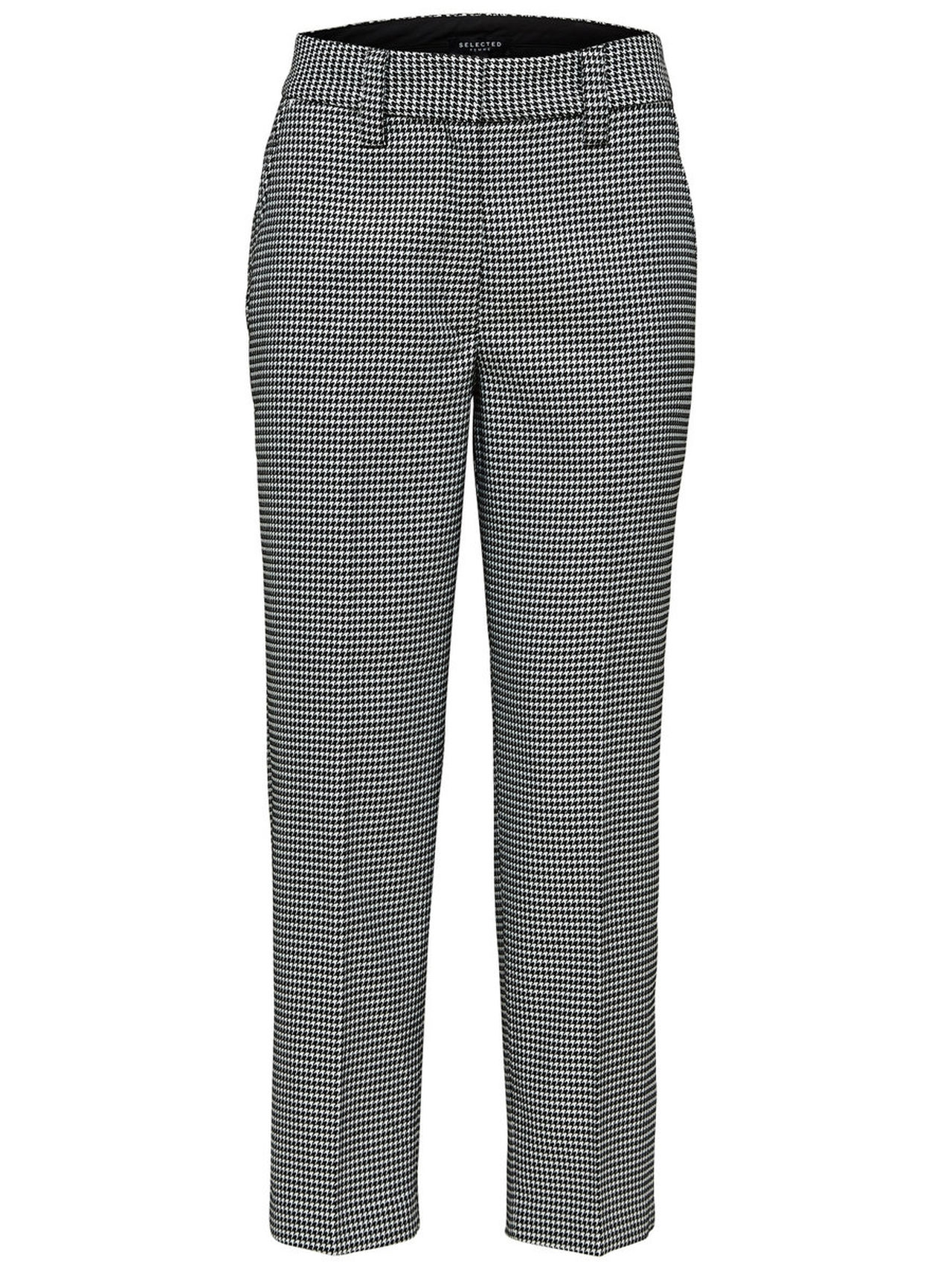 SELECTED Checked – Trousers Kvinna Svart