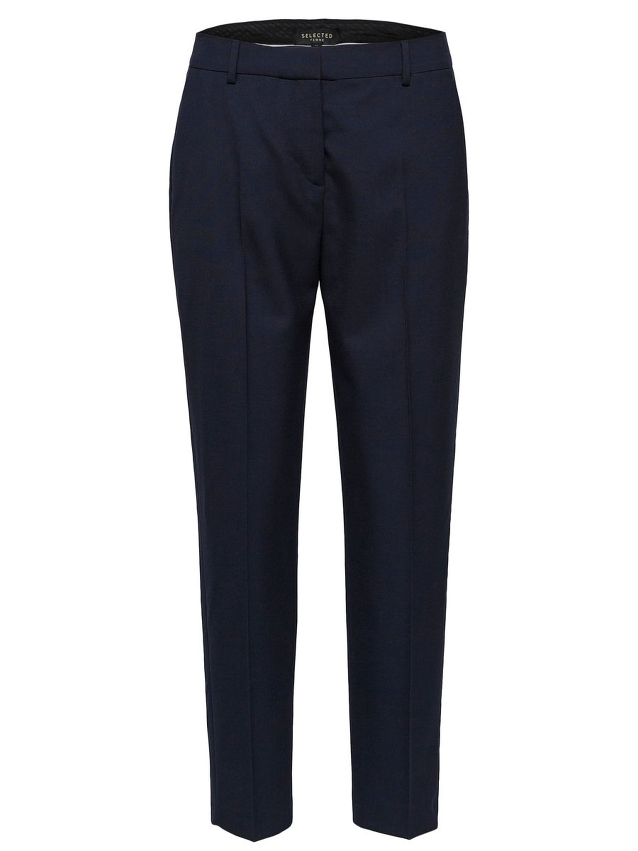 SELECTED Cropped – Trousers Kvinna Blå