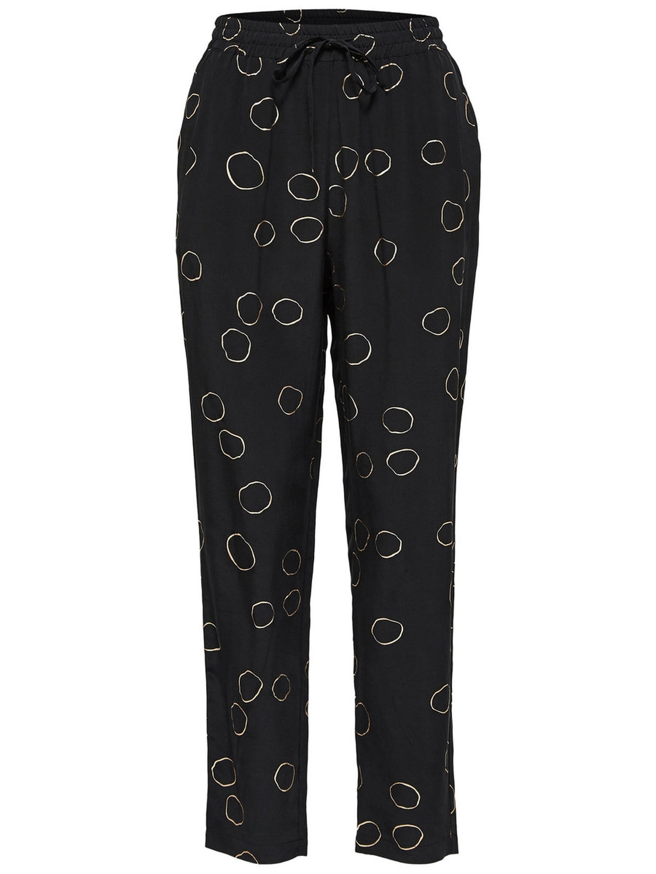 SELECTED Cropped – Trousers Kvinna Svart
