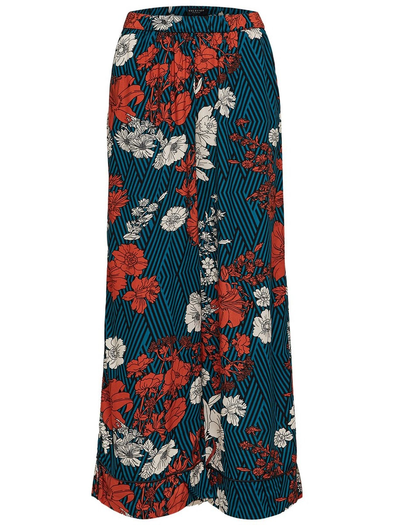 SELECTED Floral Printed – Trousers Kvinna Grön
