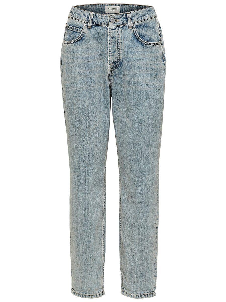 SELECTED Höga – Mom-jeans Kvinna Blå