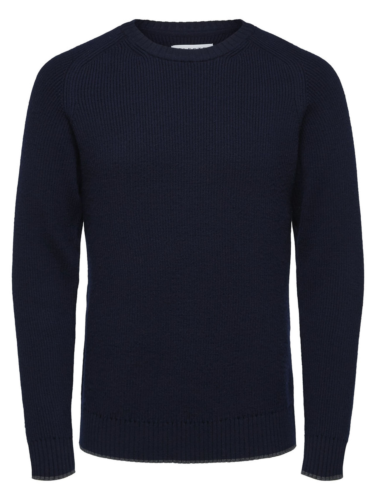 SELECTED Heavy Organic Merino Wool Pullover Man Blå