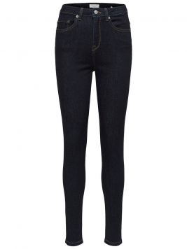SELECTED High Waist - Skinny Fit-jeans Kvinna Blå