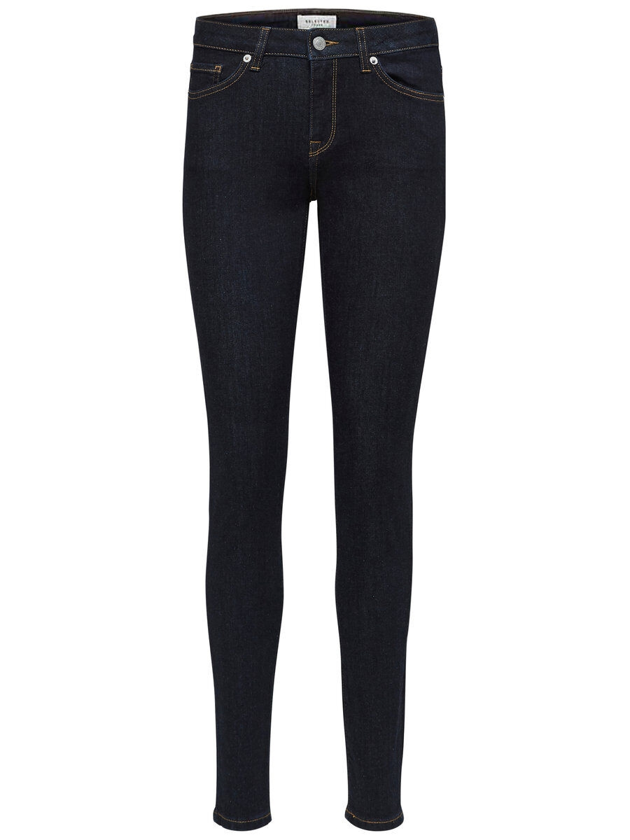 SELECTED Mid Waist – Skinny Fit-jeans Kvinna Blå