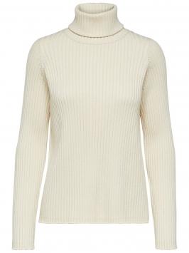 SELECTED Rollneck - Knitted Pullover Kvinna Beige