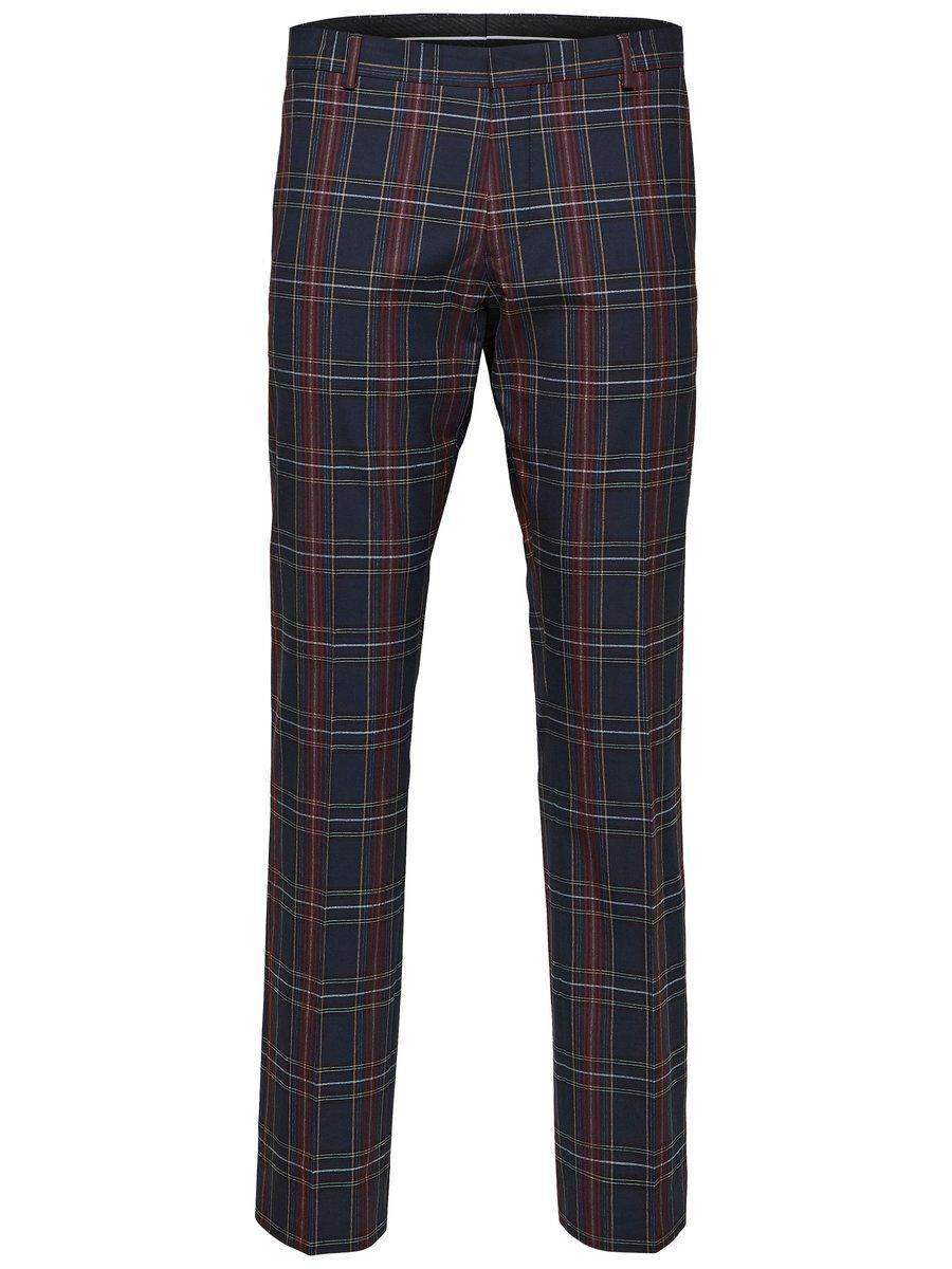 SELECTED Rutiga – Kostymbyxor Man Blå