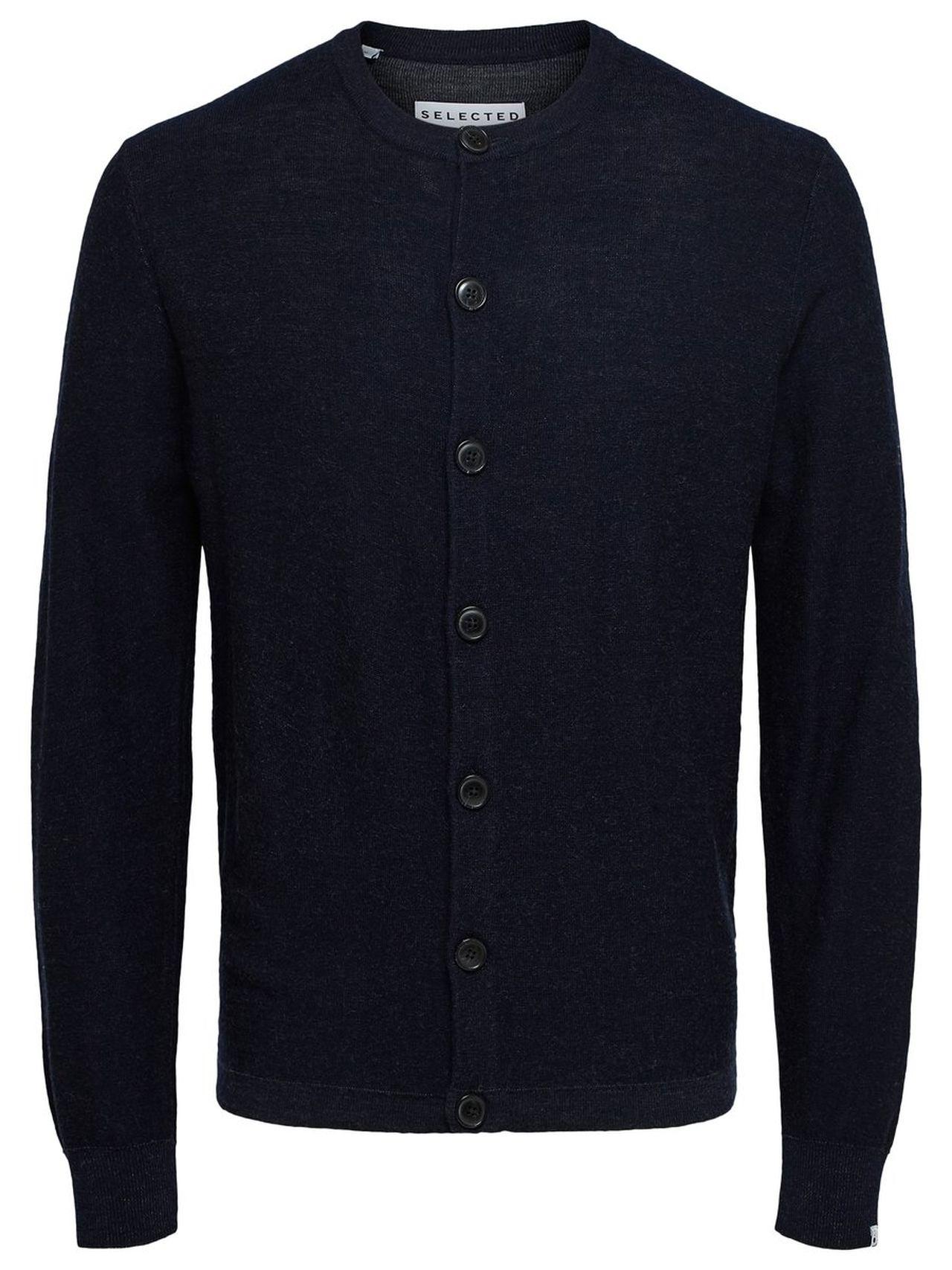 SELECTED Selected People Merino Wool Cardigan Man Blå