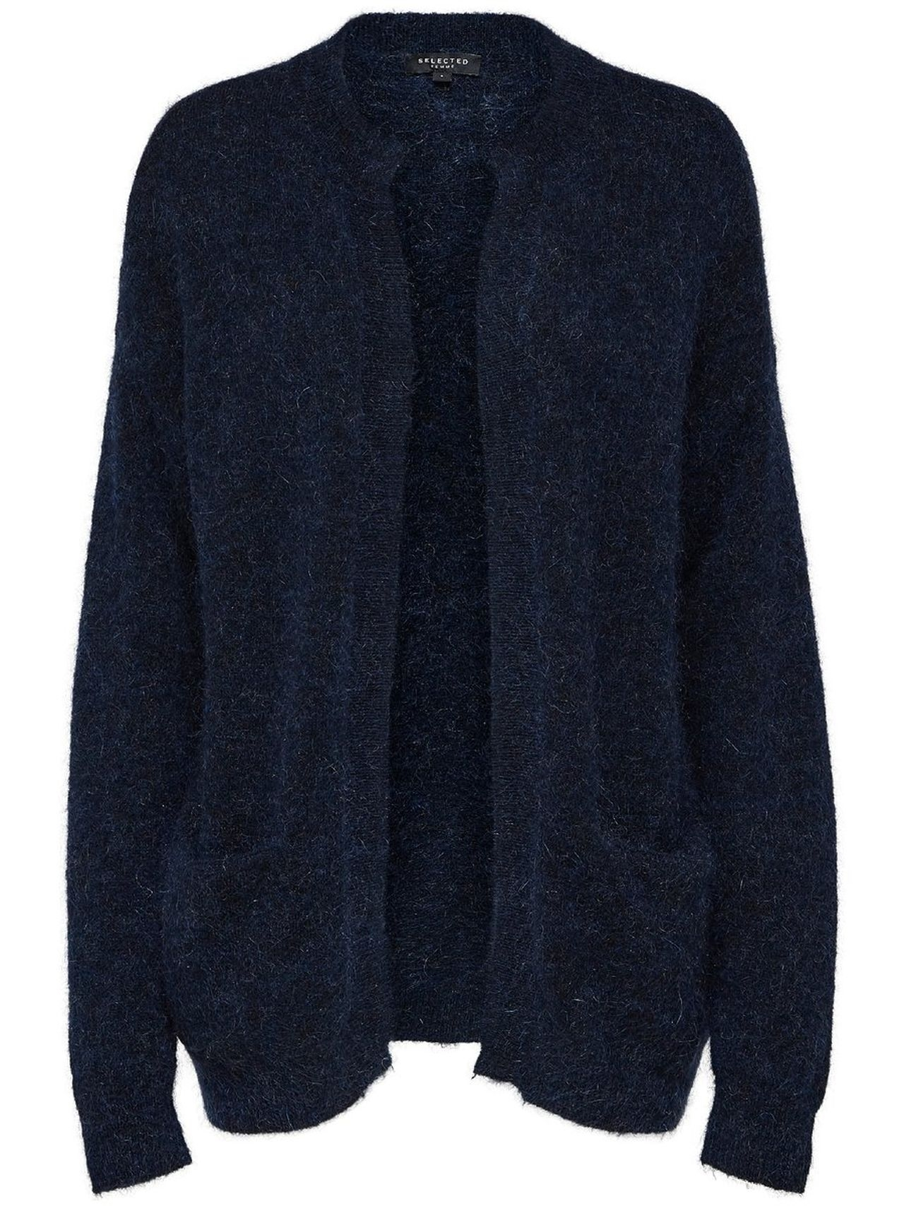 SELECTED Short – Knitted Cardigan Kvinna Blå