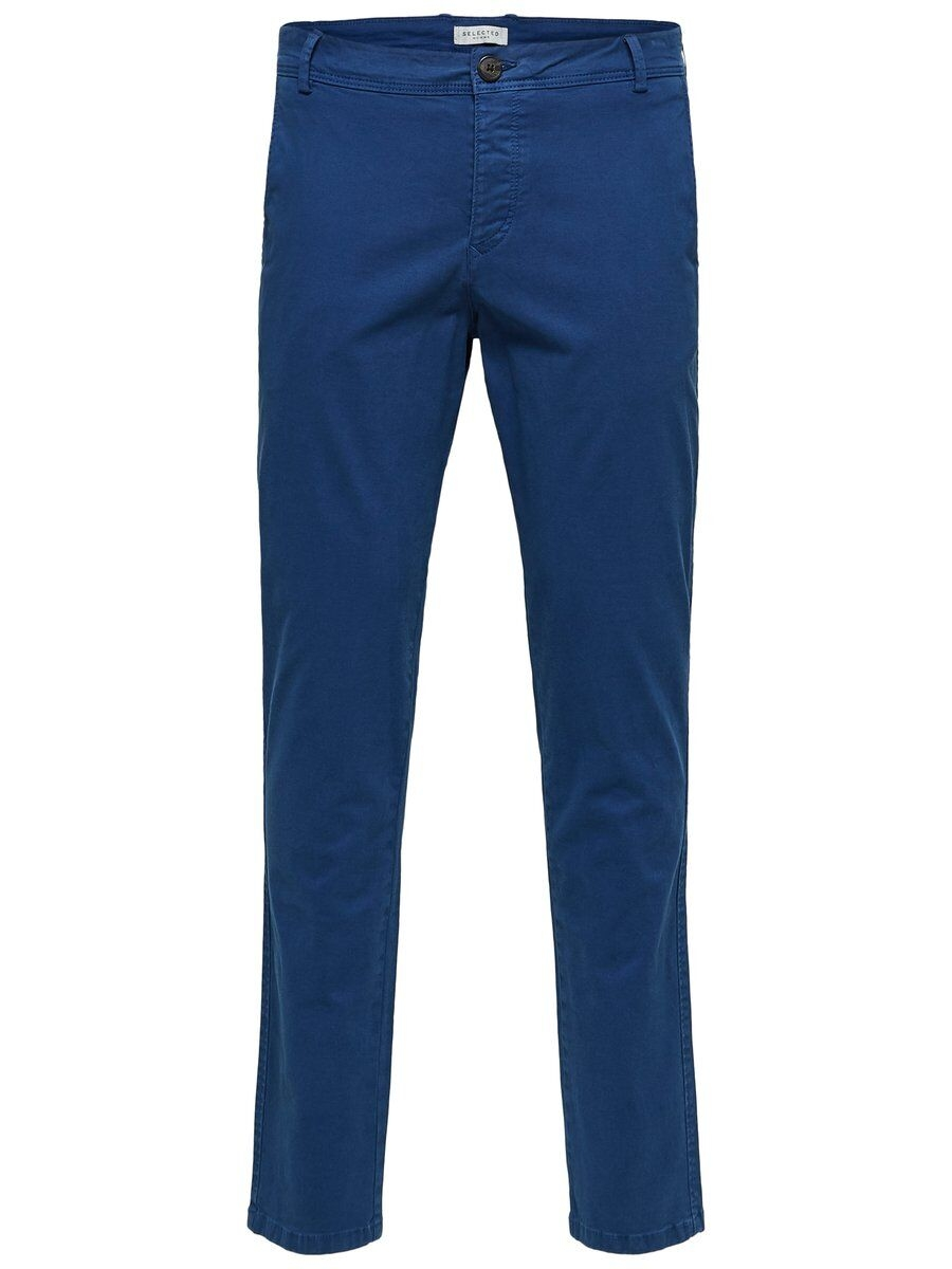 SELECTED Slhluca Skinny Fit – Chinos Man Blå