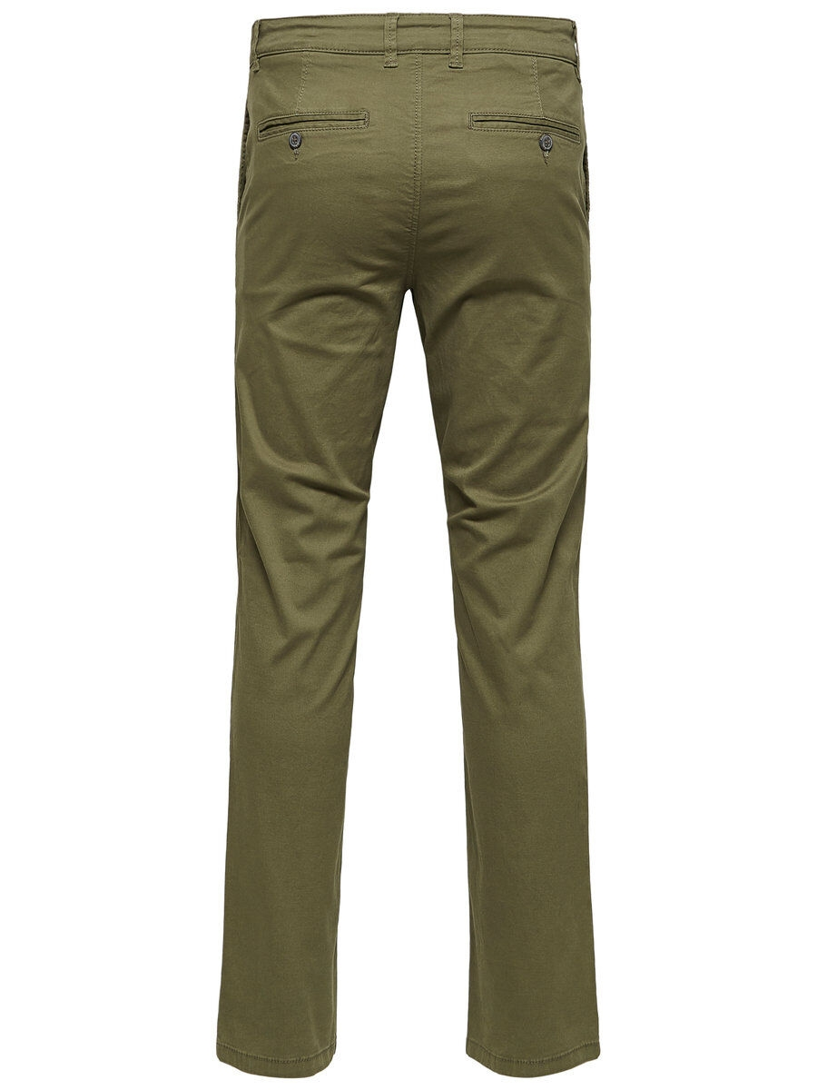 SELECTED Slhparis Regular Fit – Chinos Man Grön