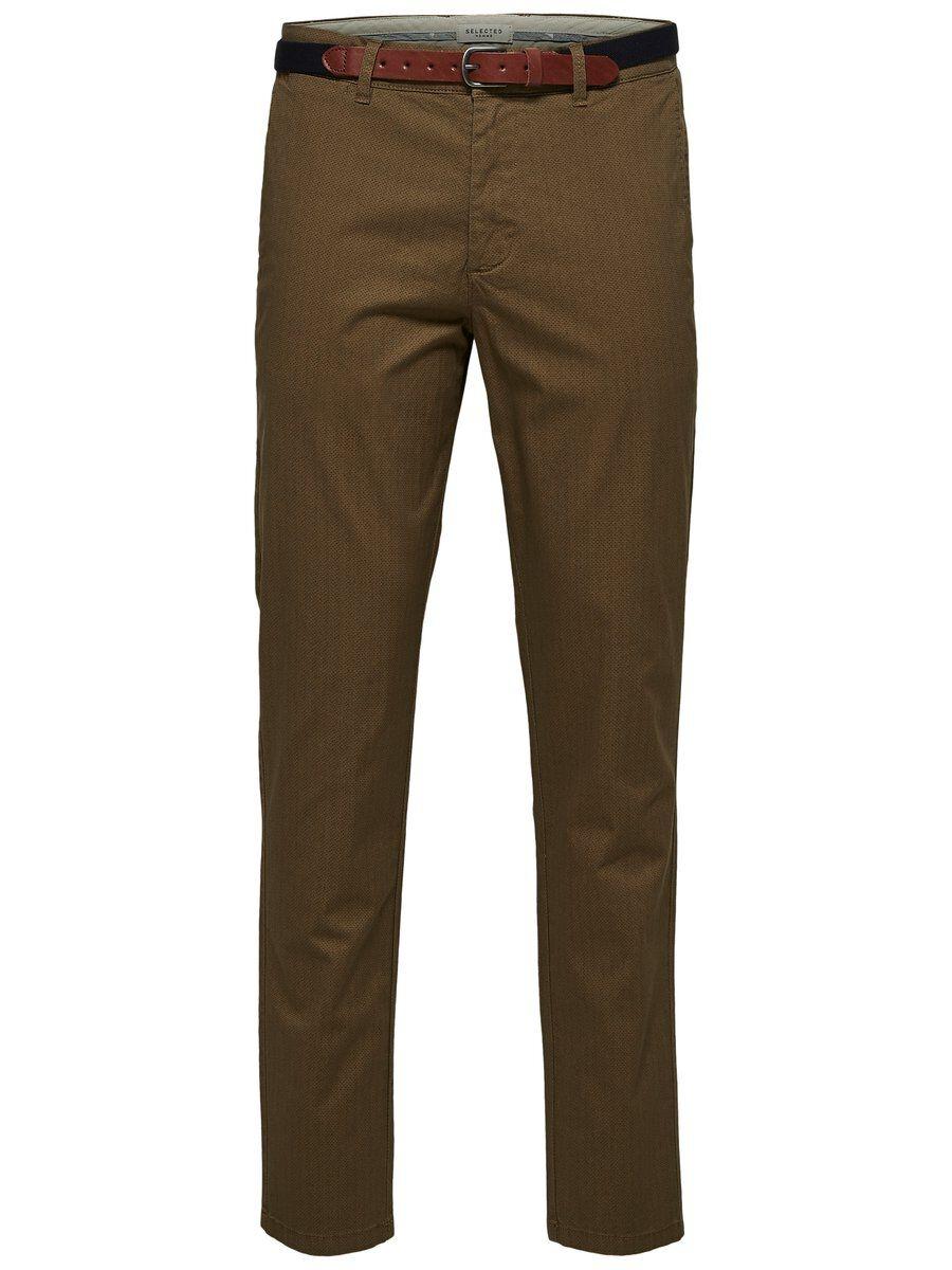SELECTED Slhyard Slim Fit – Byxor Man Brun