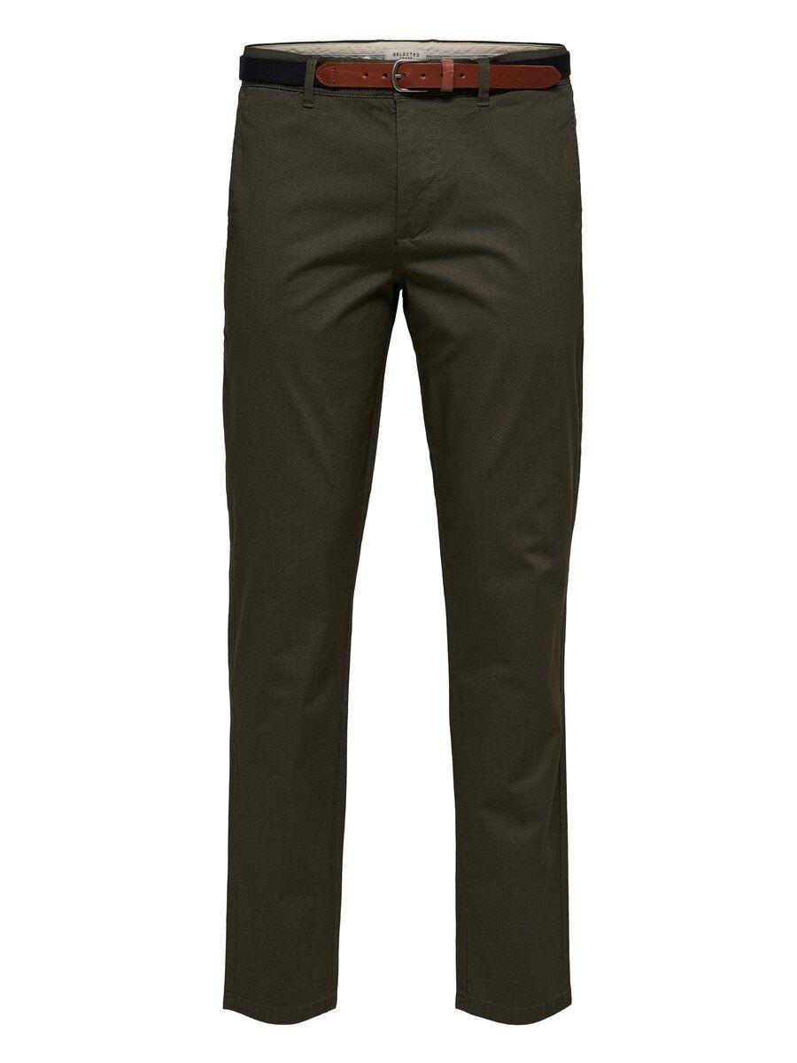 SELECTED Slhyard Slim Fit – Byxor Man Grön