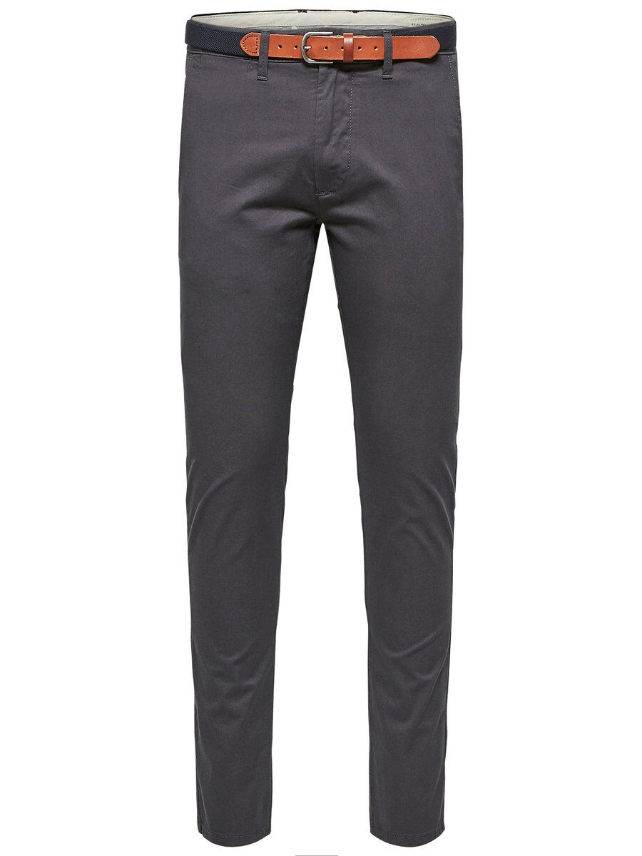SELECTED Slhyard Slim Fit – Chinos Man Grå
