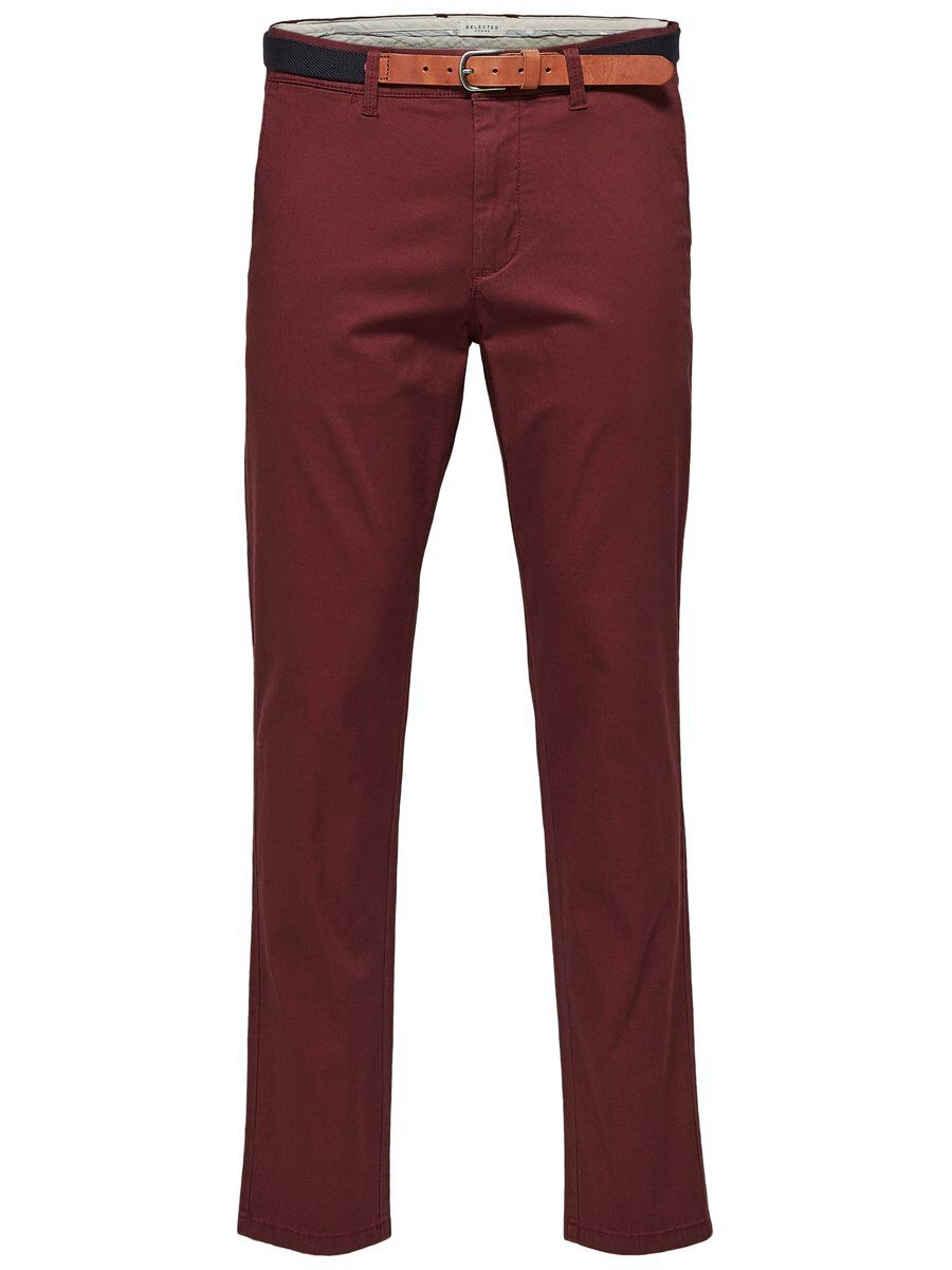 SELECTED Slhyard Slim Fit – Chinos Man Röd