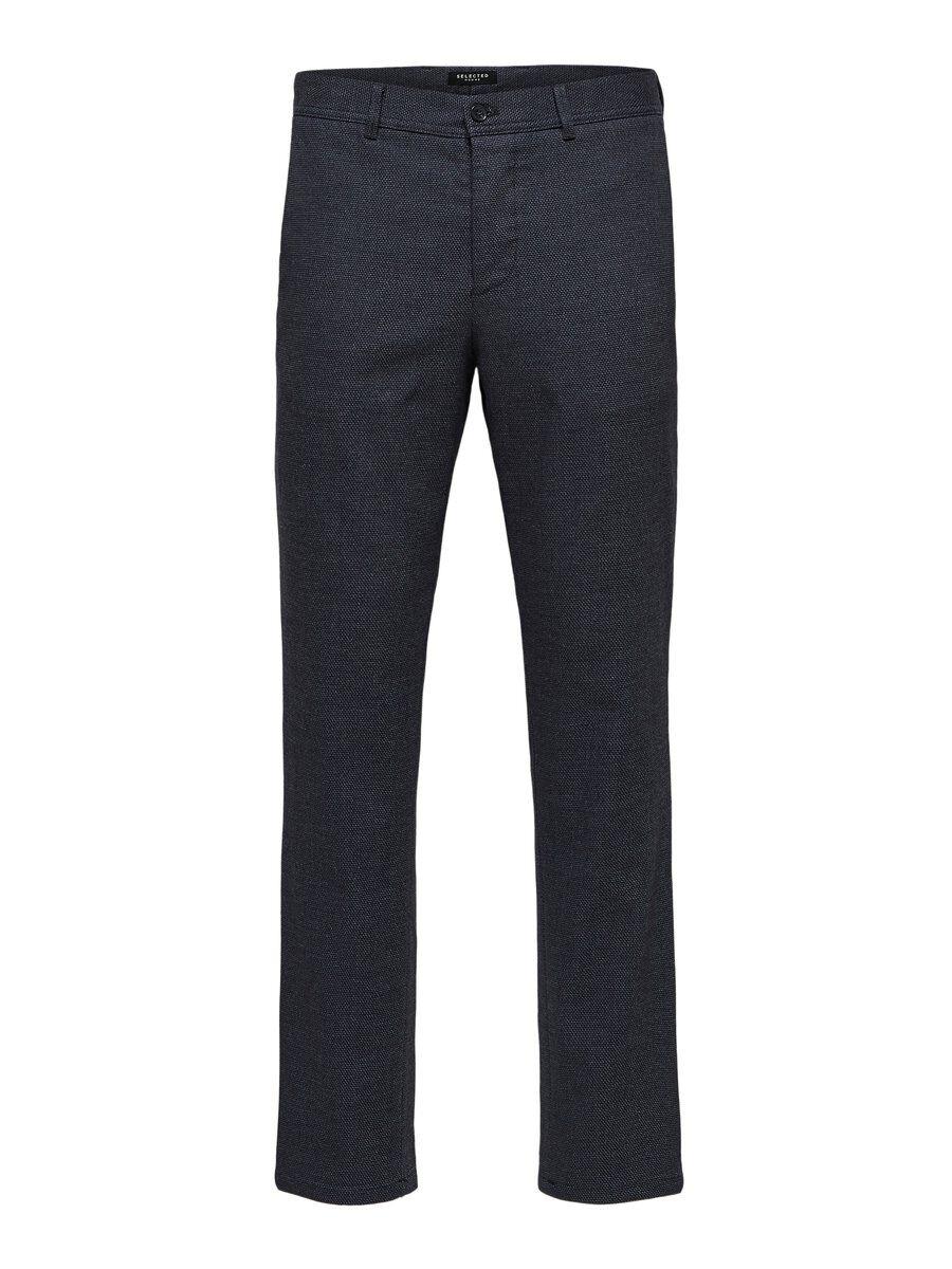 SELECTED Slim Fit Strukturerade – Byxor Man Blå