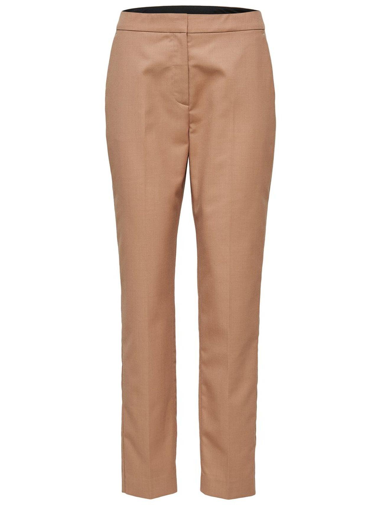 SELECTED Tailored Trousers Kvinna Brun