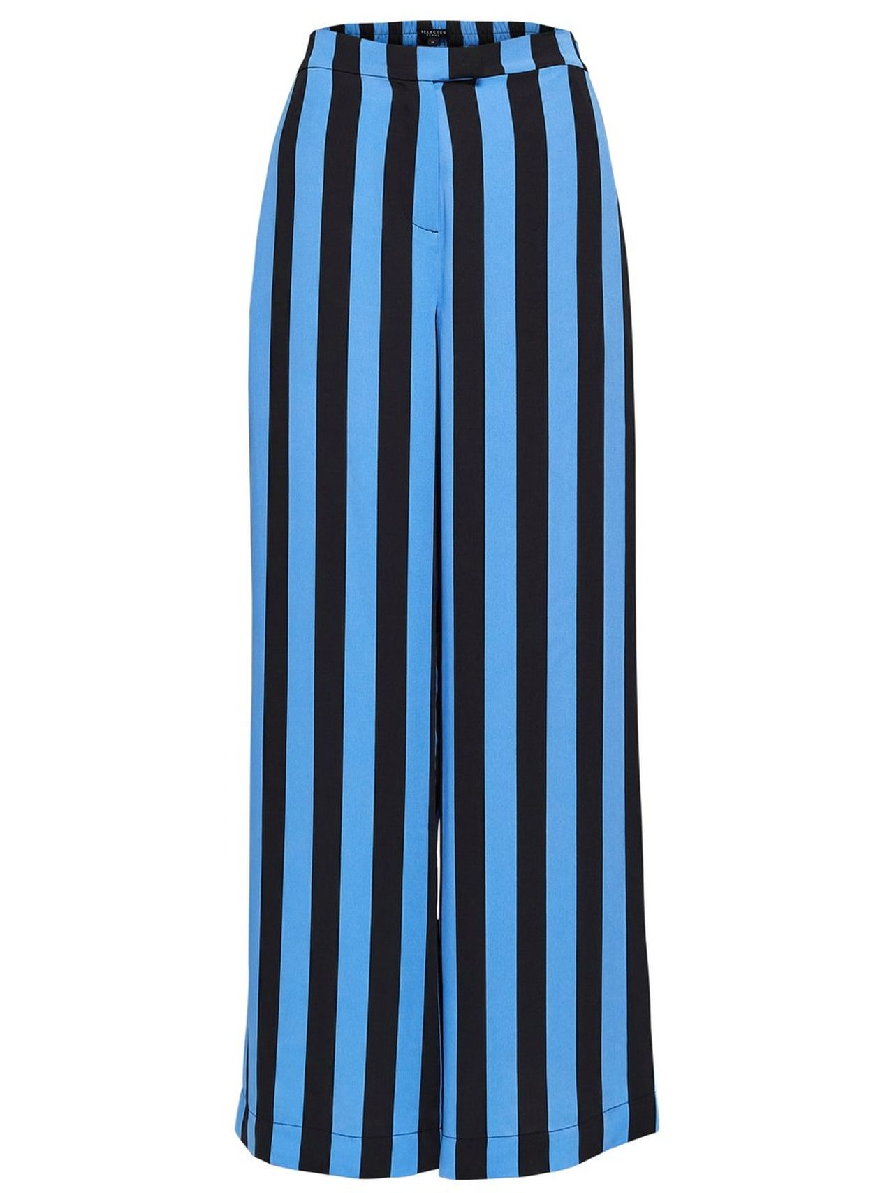 SELECTED Wide Striped – Trousers Kvinna Blå