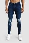 SKinny Fit Distressed Jeans With Side Tape