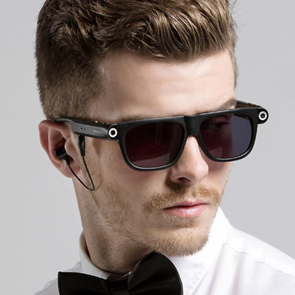 SPARDAR V1 720P HD 8G Video Smarta Glasögon Blåtand LED Sport Solglasögon Kamera Multi-Function Goggles
