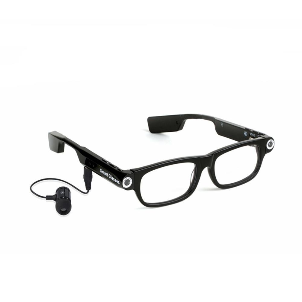 SPARDAR V3 720P HD 8G Video Smart Glasses Blåtand Sport Transparent Linser (V3) Kamera Multi-Function Goggles