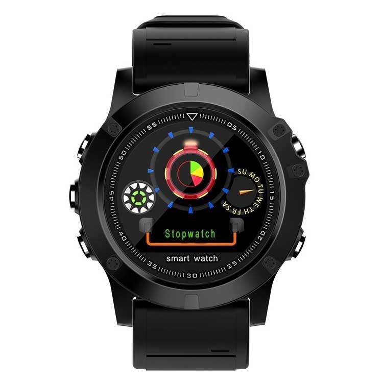 SPOVAN SW002 1.22 IPS Skärm IP68 Vattentät Smart Watch Fjärrkamera Sova Blood Oxygen Monitor Fitness Armband