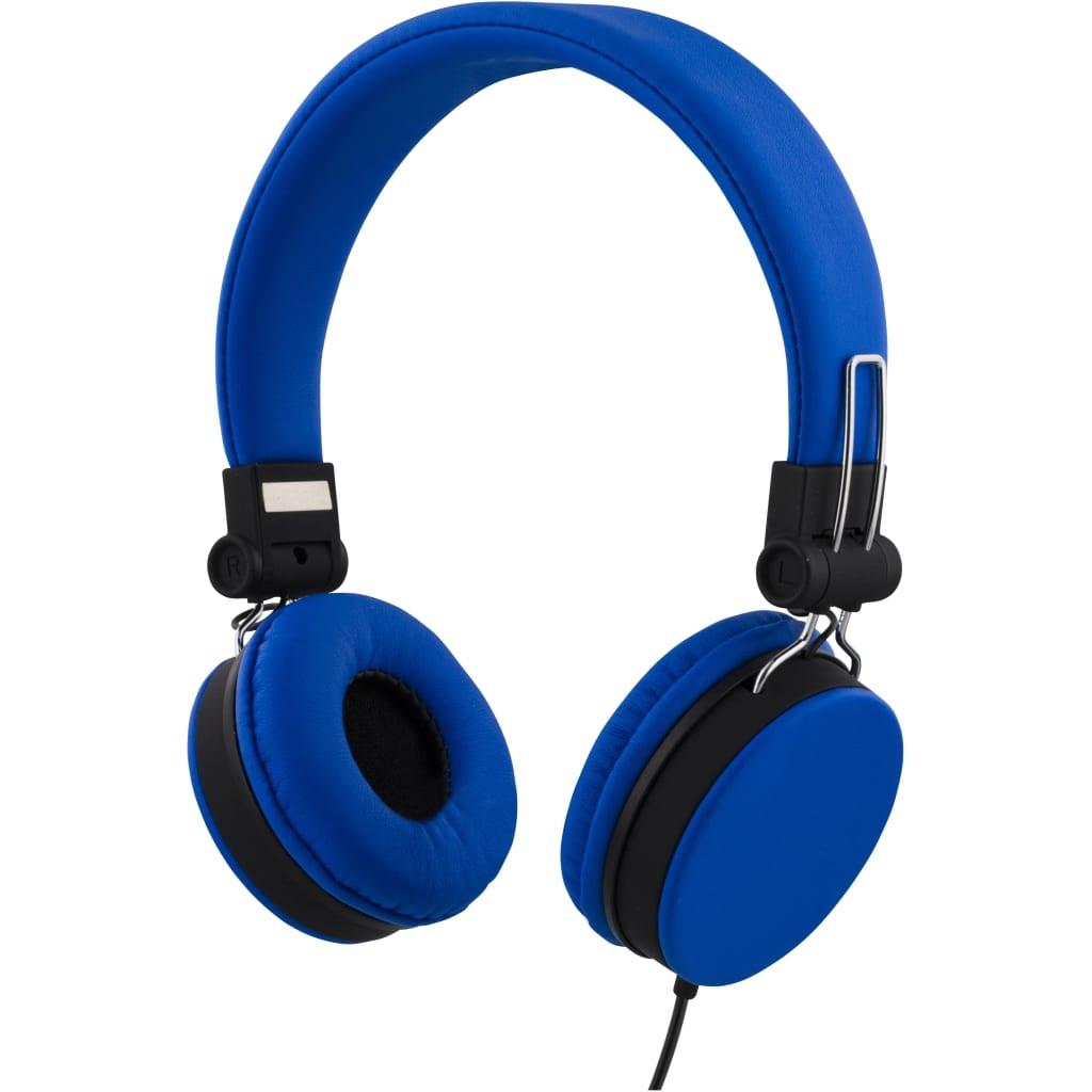 STREETZ headset för smartphone, mikrofon, svarsknapp, 1,5m, blå