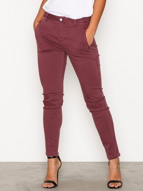 Selected Femme Sfingrid Mr 2 Tapered Chino Mauve W Byxor