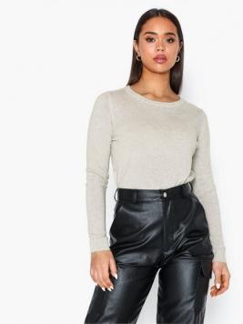 Selected Femme Slfaya Ls Knit Cashmere O-Neck B Stickade tröjor
